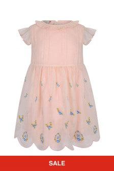 فستان أورجانزا حرير أبيضللبنات البيبي