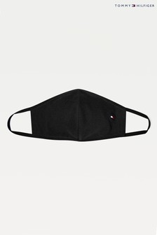 Tommy Hilfiger Black Global Stripe Non-Medical Fabric Face Covering