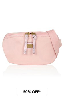 Dolce & Gabbana Girls Pink Cotton Belt Bag