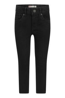 Boys Black Cotton Stretch Skinny Jeans