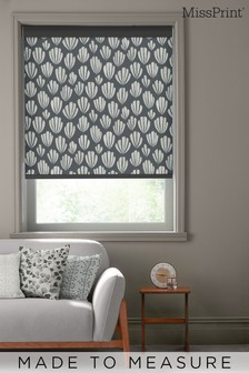 Hoja Boston Black Made To Measure Roller Blind by MissPrint