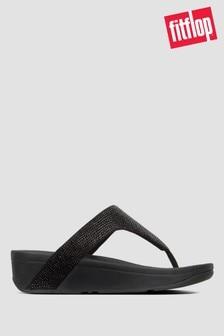 FitFlop™ Lottie Shimmercrystal Toe Post Sandals