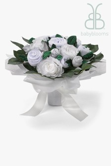 Babyblooms Luxury White New Baby Clothes Bouquet Gift