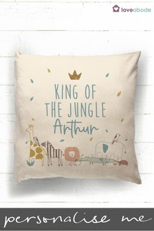 Personalised King Of The Jungle Cushion by Loveabode