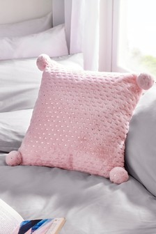 Pom Pom Star Print Cushion