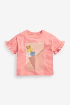 Orange Ice Cream Interactive T-Shirt (3mths-7yrs)