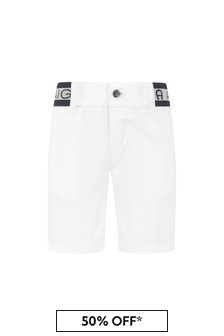 Aigner Baby Boys White Cotton Boys Shorts