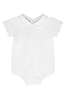 Baby Boys Blue Cotton Bodysuit
