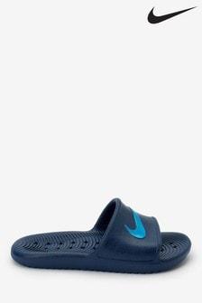 Nike Navy Kawa Shower Junior & Youth Sliders