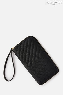 Accessorize Black Quilted Phone Purse