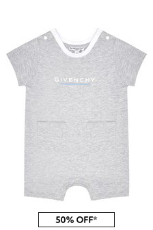 Givenchy Kids Baby Grey Cotton  Romper