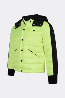 Boys Neon Yellow Down Padded Bouzey Jacket
