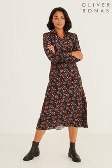 Oliver Bonas Ditsy Midi Shirt Dress