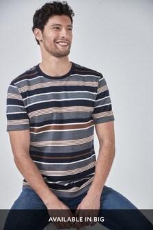 Navy Stripe Soft Touch Regular Fit T-Shirt