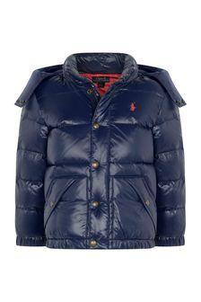 Boys Navy Padded Jacket