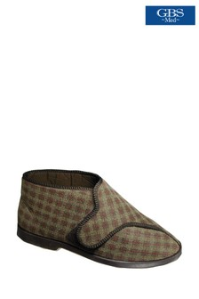 GBS Brown Keswick Bootee Slippers