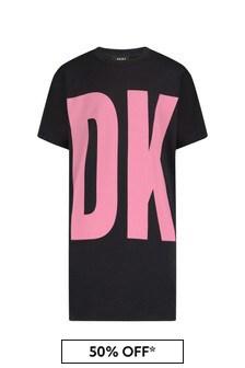 DKNY Girls Black Cotton Dress