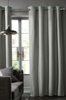 Woven Geo Eyelet Super Thermal Curtains