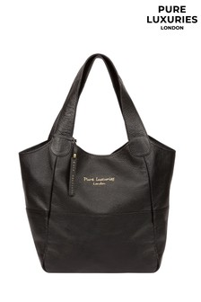 Pure Luxuries London Black Freer Leather Tote Bag