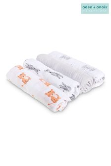 aden + anais Essentials White Muslin Swaddle Blanket 4 Pack