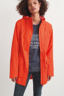 Red Fleece Lined All-Weather Waterproof Jacket