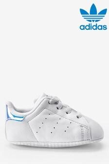 adidas Originals White Iridescent Stan Smith Crib Trainers