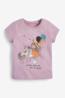 Lilac Unicorn T-Shirt (3mths-7yrs)