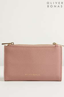 Oliver Bonas Pink Oaklee Fold Over Purse