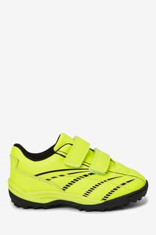 Fluro Yellow Strap Touch Fastening Trainers (Younger)