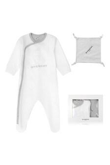 White Babygrow & Comforter Gift Set