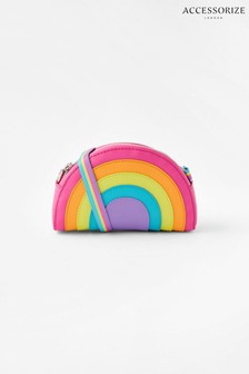 Accessorize Pink Rainbow Cross Body Bag