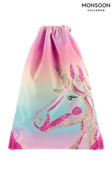 Monsoon Unicorn Rainbow Drawstring Bag