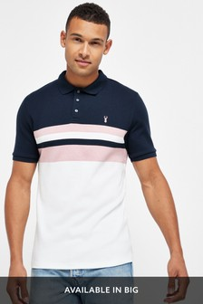 Pink/Navy Blocked Soft Touch Poloshirt
