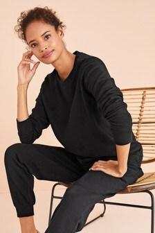 Black Maternity Sweatshirt