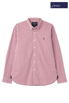 Joules Purple Blythe Long Sleeve Classic Fit Peached Poplin Shirt