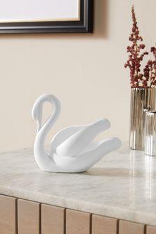 Mini Contemporary Swan Ornament