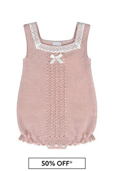 Baby Girls Pink Cotton Romper