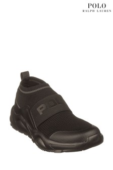 Ralph Lauren Black Chaning Trainers