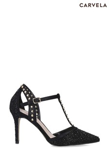 Carvela Black Kankan Jewel Shoes