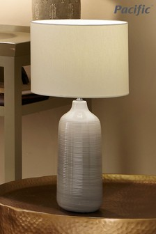 Venus Blue/Grey Ombre Ceramic Table Lamp by Pacific Lifestyle