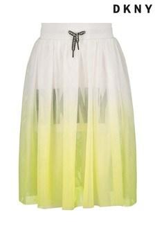 DKNY Yellow Ombre Maxi Skirt