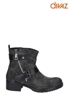 Divaz Grey Jett Zip Up Boots