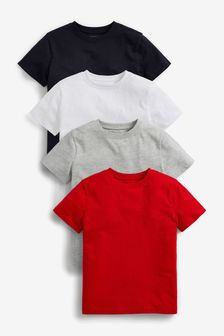 Red/White/Navy 4 Pack T-Shirts (3-16yrs)