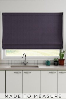 Cotton Purple Made To Measure Roman Blind