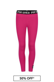 Dsquared2 Kids Girls Pink/Fuchsia Cotton Leggings
