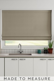 Cotton Mink Natural Made To Measure Roman Blind
