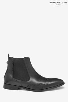 Kurt Geiger London Maddox Chelsea Black Boots