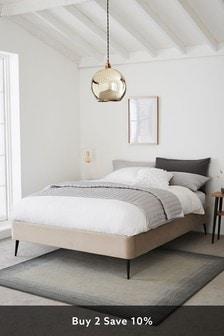 Opulent Velvet Pebble Platform Upholstered Bed