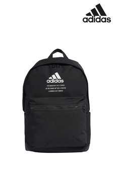 adidas Black Central Logo Backpack