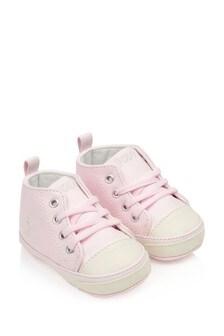 Baby Girls Pink Pre Walker Trainers